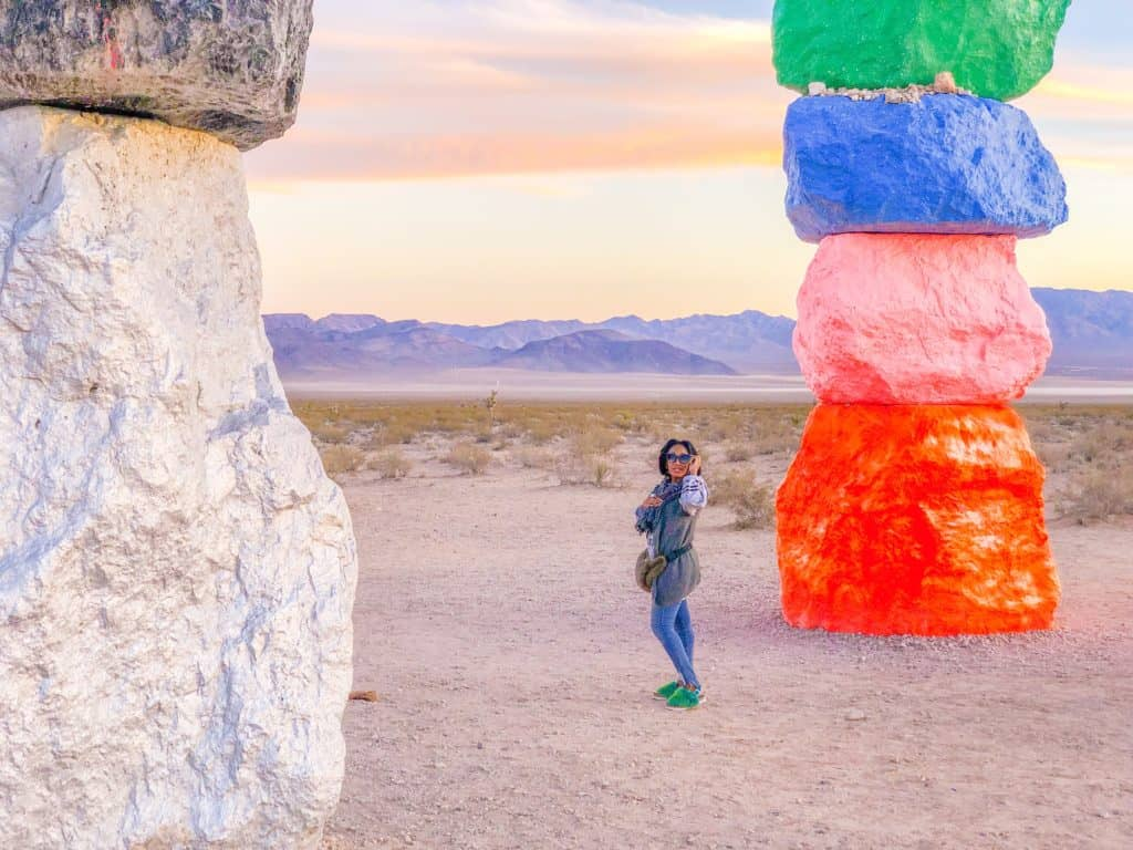 Shaunda Necole Visit Seven Magic Mountains Desert Art