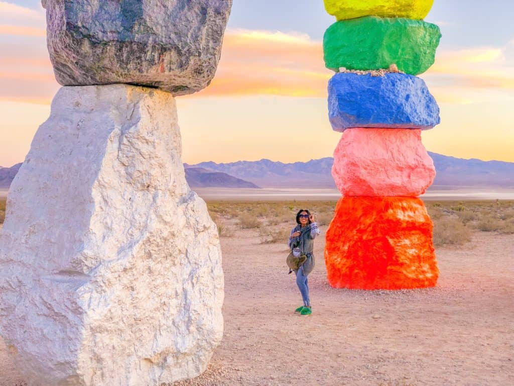 Shaunda Necole Visit Seven Magic Mountains