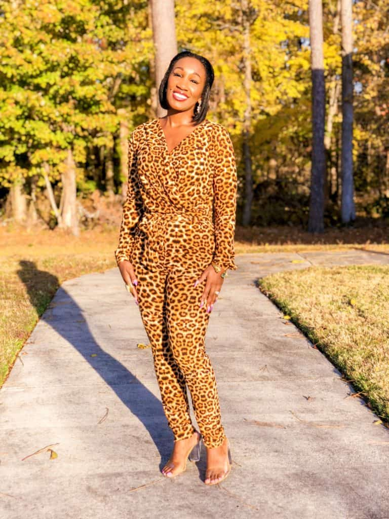 Hello Sunshine! California Views- Shaunda Necole SheIn Leopard Jumpsuit