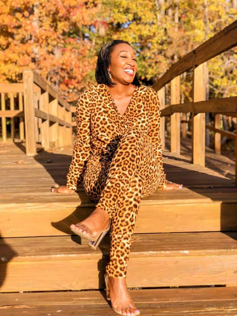 Hello Sunshine! California Views- Shaunda Necole Leopard Laughs!- Jumpsuit under $40
