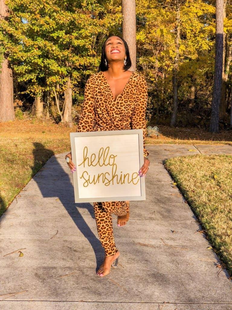 Hello Sunshine! California Views- Shaunda Necole Leopard Jumpsuit