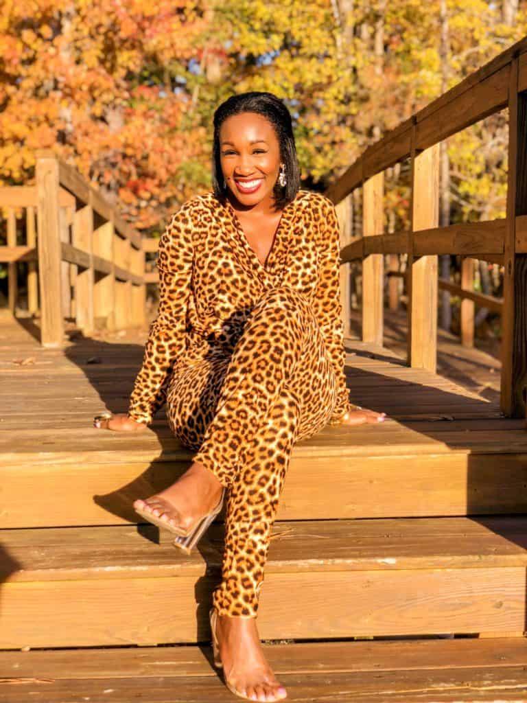 Hello Sunshine! California Views- Shaunda Necole Leopard Jumpsuit under $30
