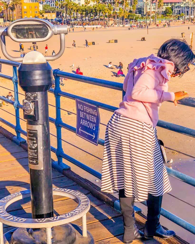 Shaunda Necole Ruffles at the Santa Monica Pier