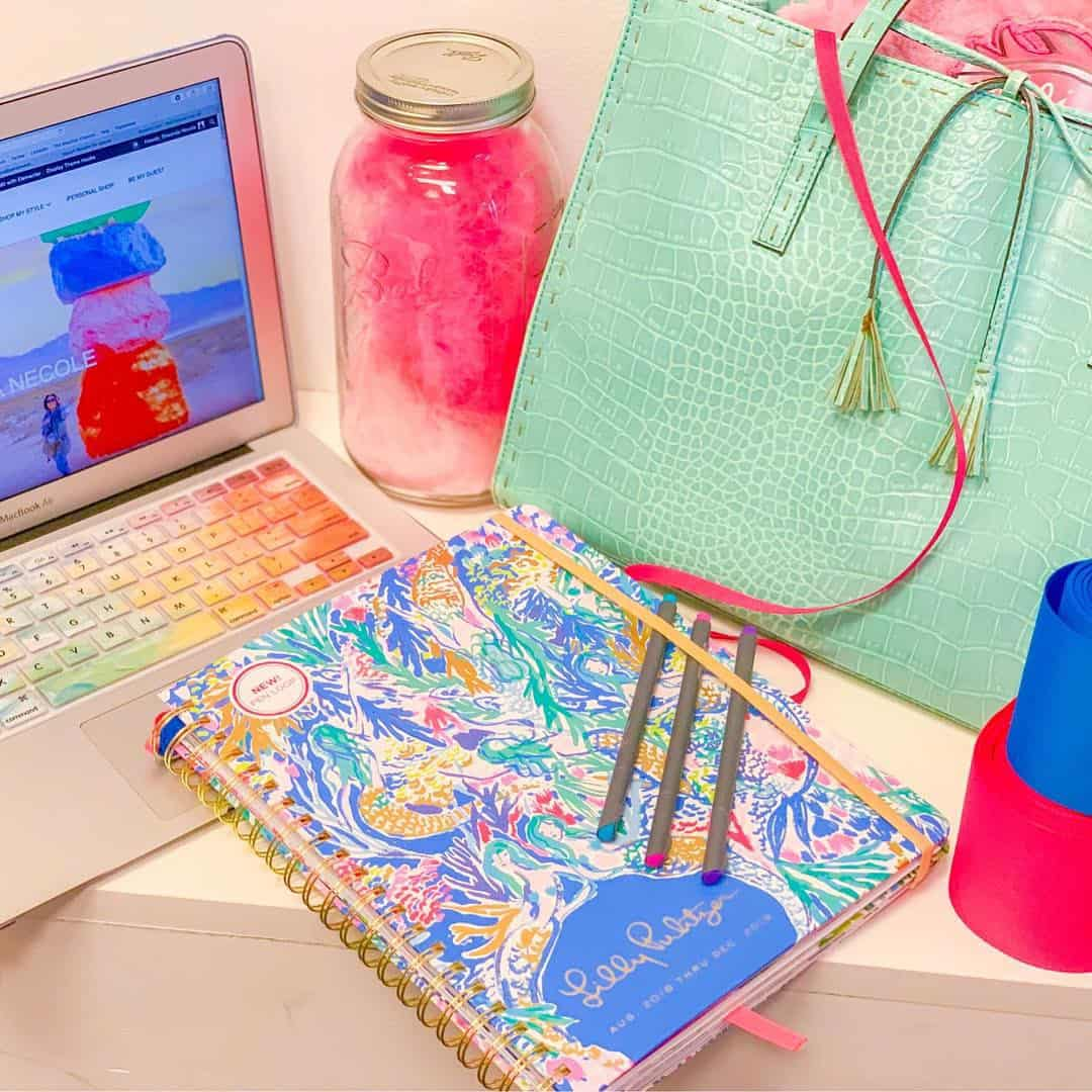 Shaunda Necole getting organized with lots of color and #LillyPulitzer