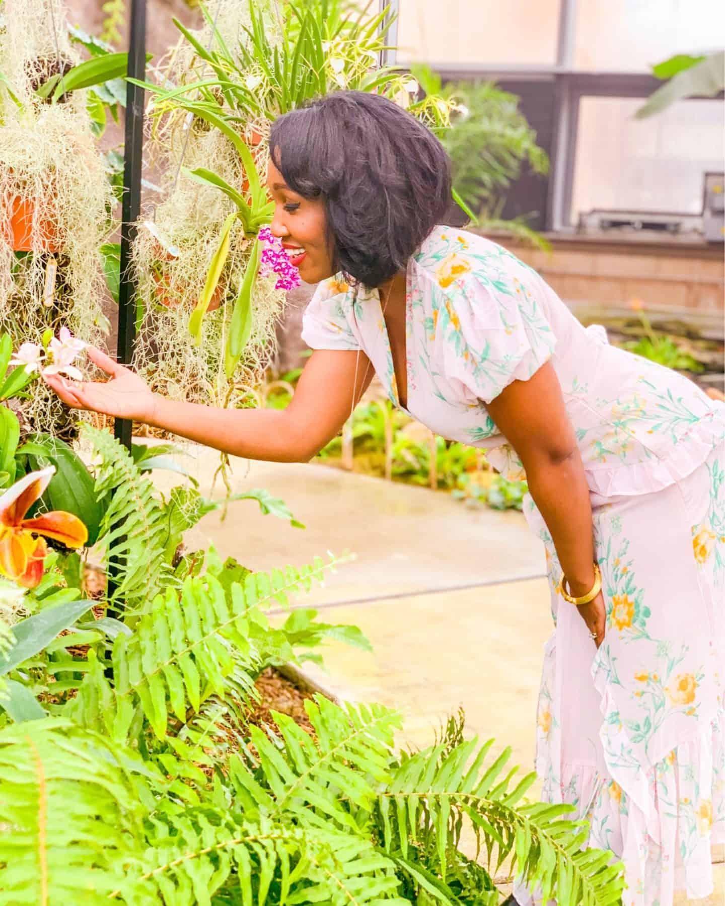 Shaunda Necole at ODU Kaplan Orchid Conservatory