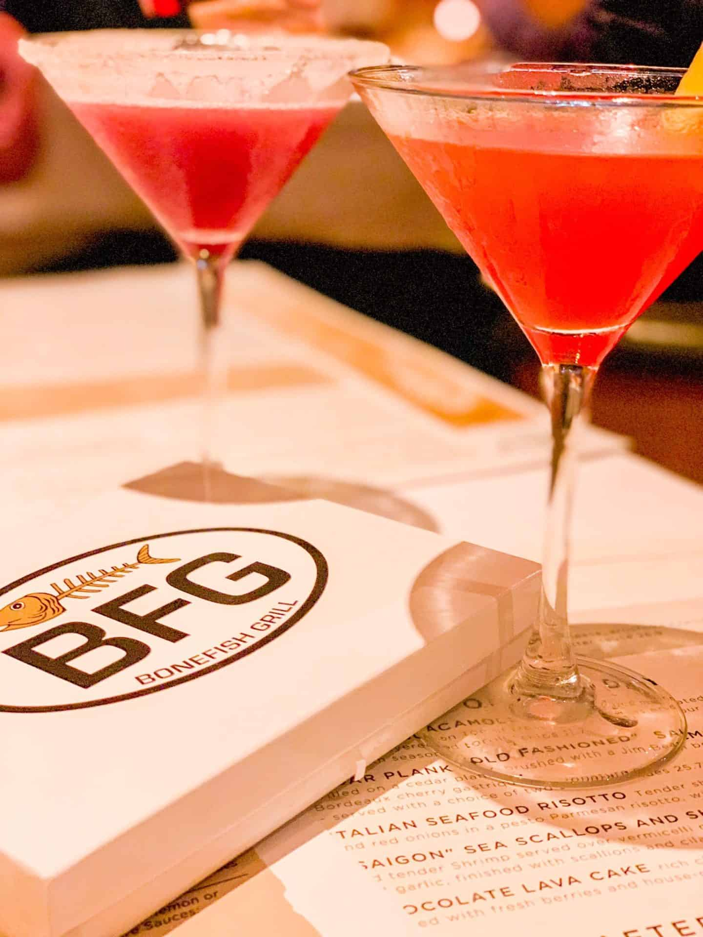 ShaundaNecole.com Our Valentine's Dinner At Bonefish Grill- Tropical Tiki Martini