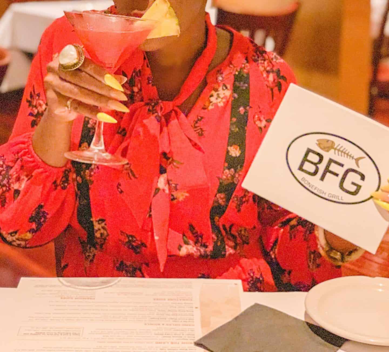 Shaunda Necole | Our Valentine's Dinner At Bonefish Grill- Tiki Martini