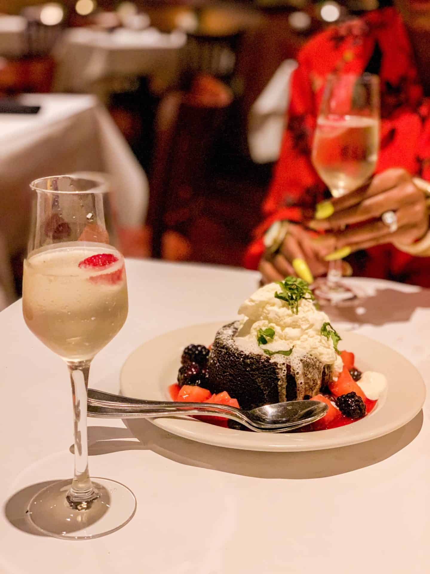 ShaundaNecole.com Our Valentine's Dinner At Bonefish Grill- Chocolate Lava Cake