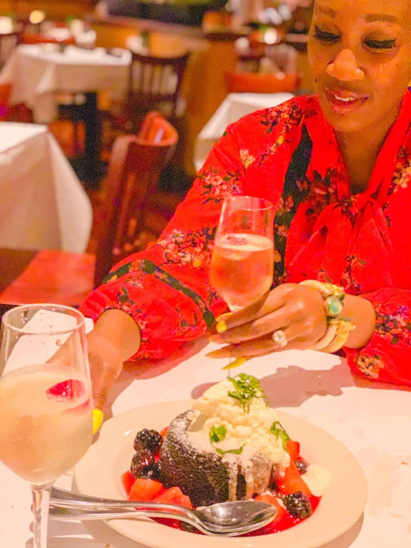 Shaunda Necole | Our Valentine's Dinner At Bonefish Grill- Lava Cake Dessert