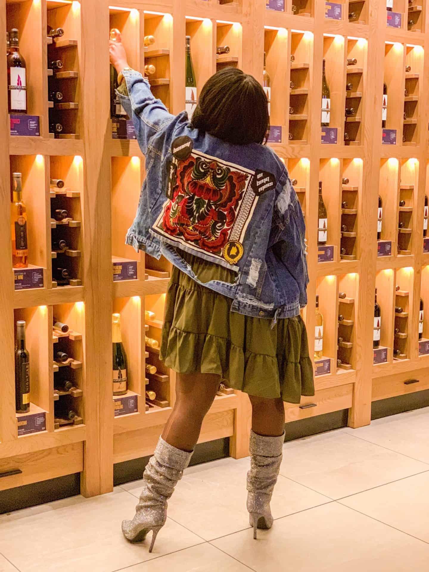 Shaunda Necole x Jessica Simpson Bling Boots & Ripped Jean Jacket