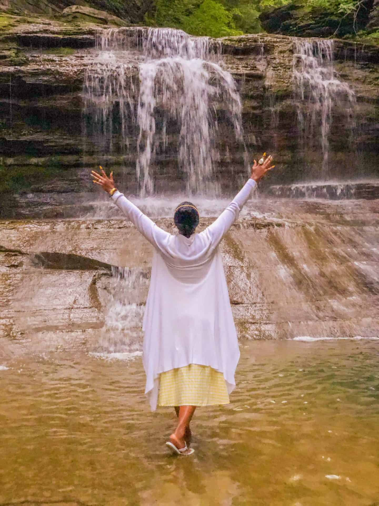 Shaunda Necole- Chasing Finger Lakes Waterfalls - Buttermilk Falls National Park Ithaca NY- Experiences are the luxuries of life