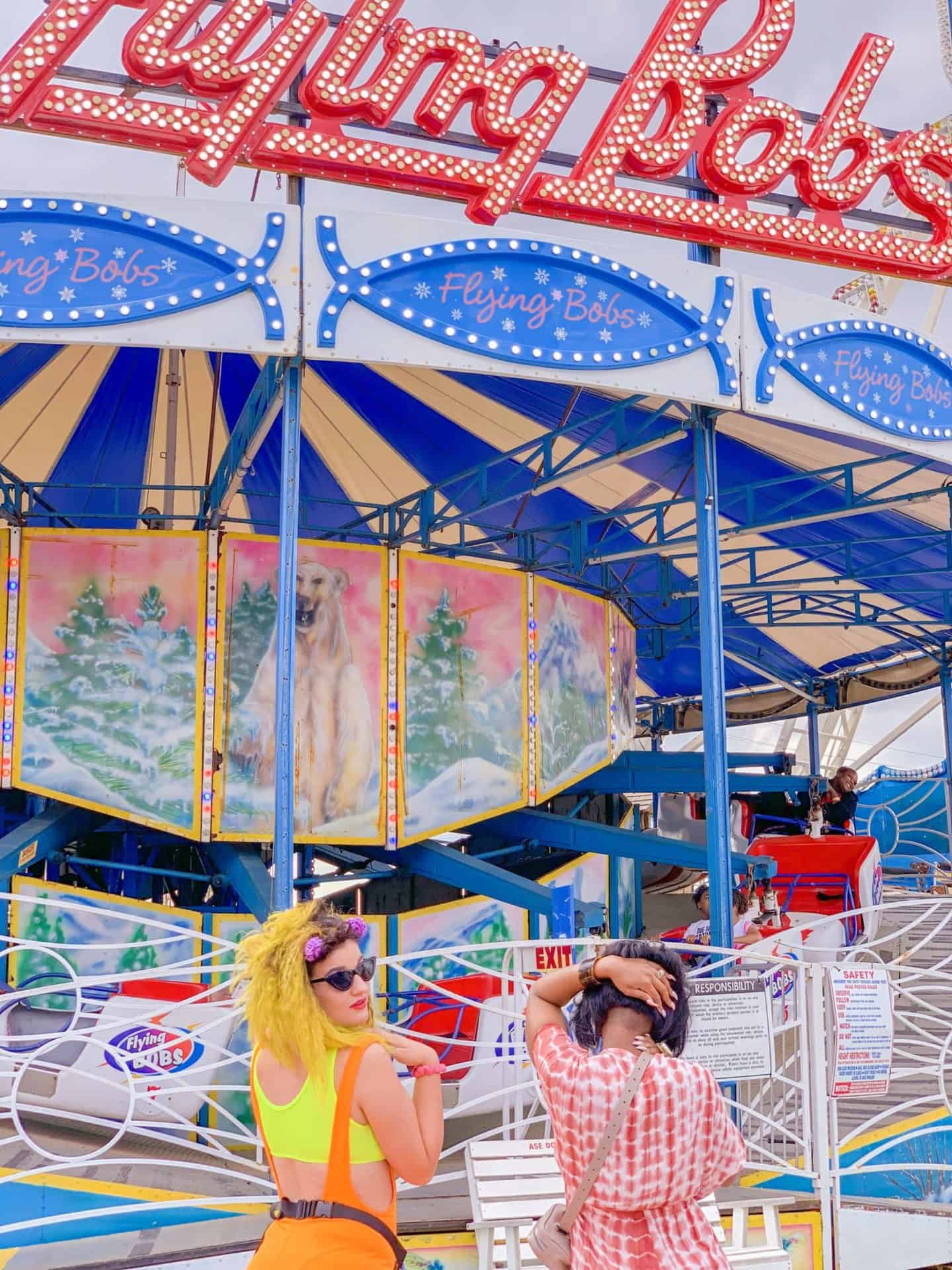 ShaundaNecole.com Something In The Water Fest- VA Beach Oceanfront Fun Park Flying Bobs