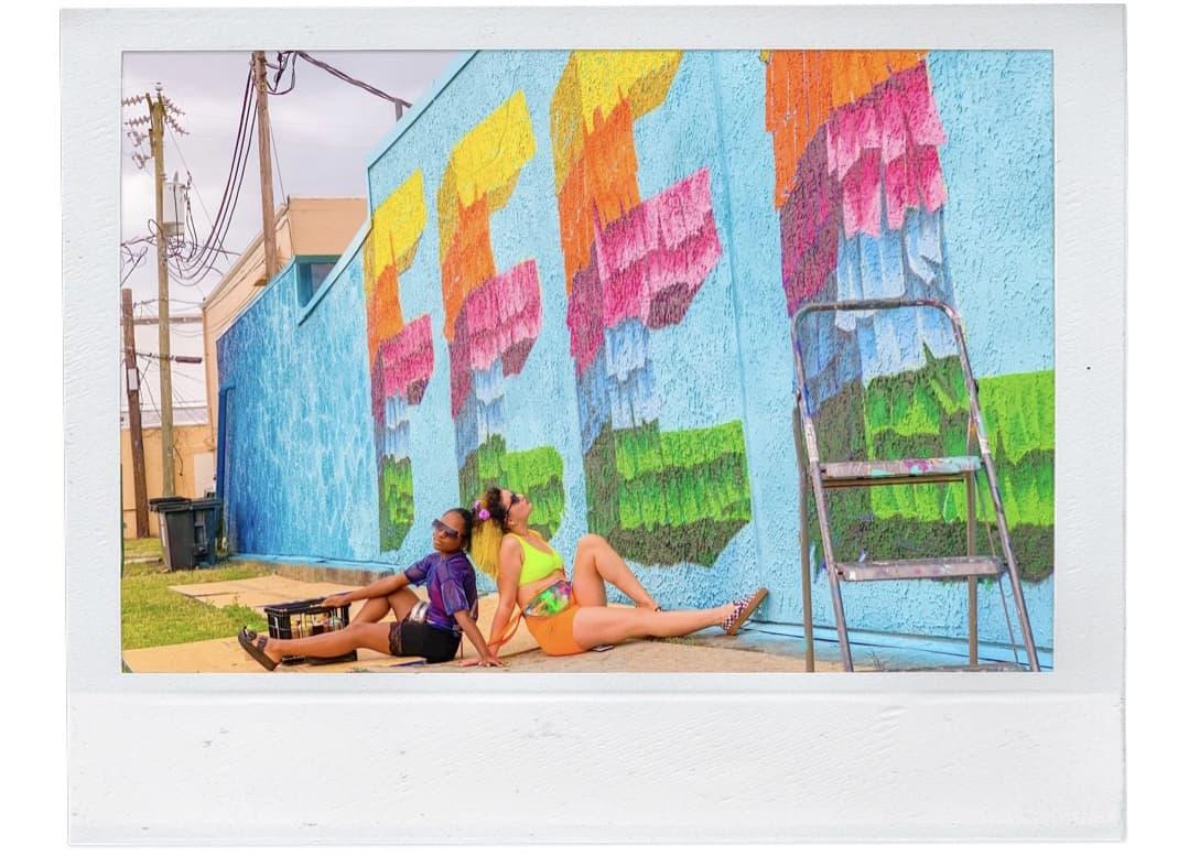 ShaundaNecole.com Something In The Water Fest- Carl Can Draw VA Beach Feels Piñata Mural
