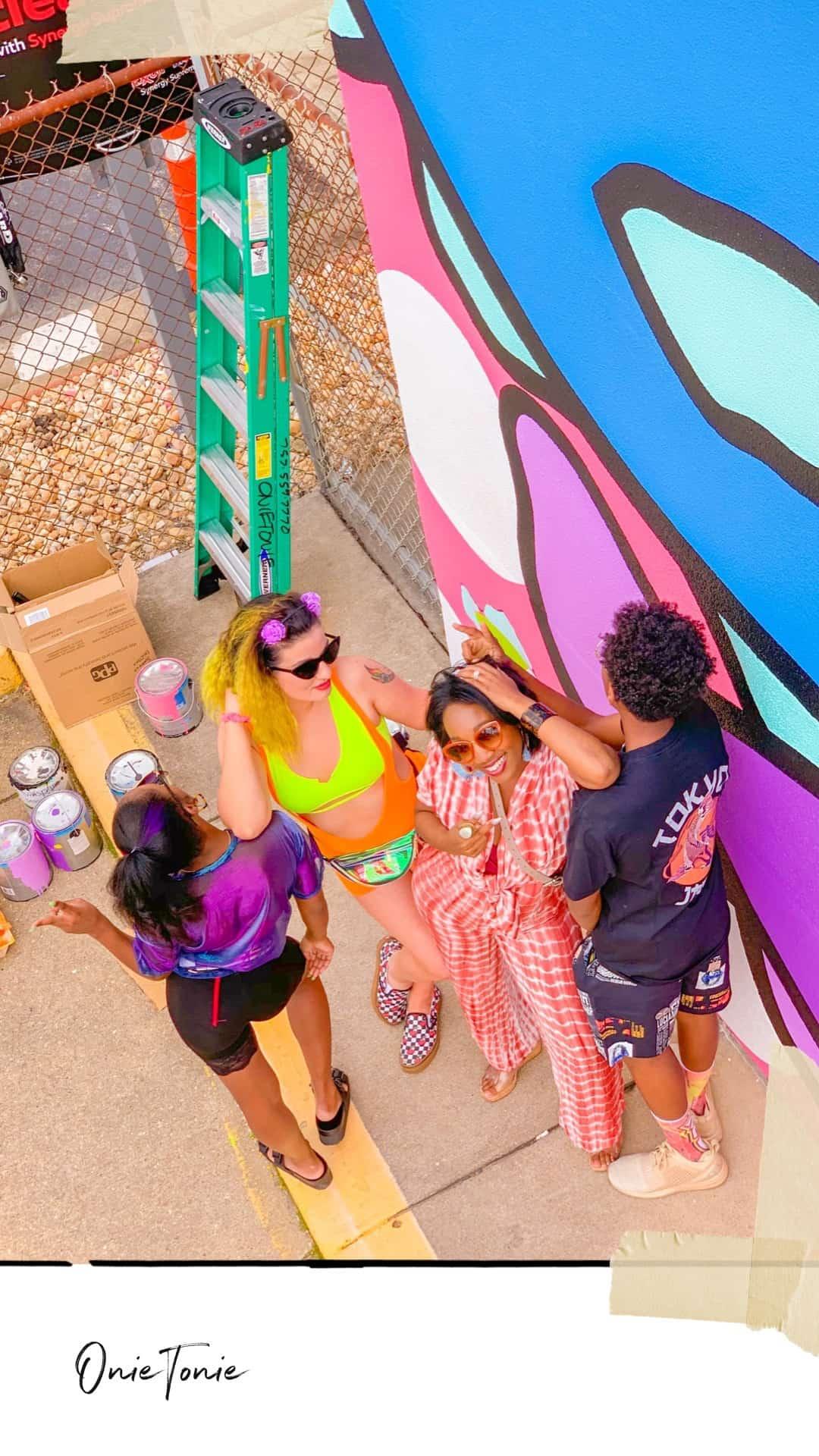 ShaundaNecole.com Something In The Water Fest- BTS Onie Tonie artist mural