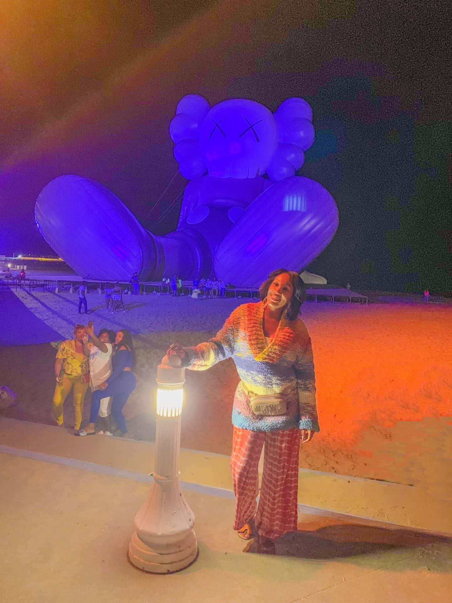 ShaundaNecole.com Pharrell Williams Something In The Water Fest VA Beach- kaws art