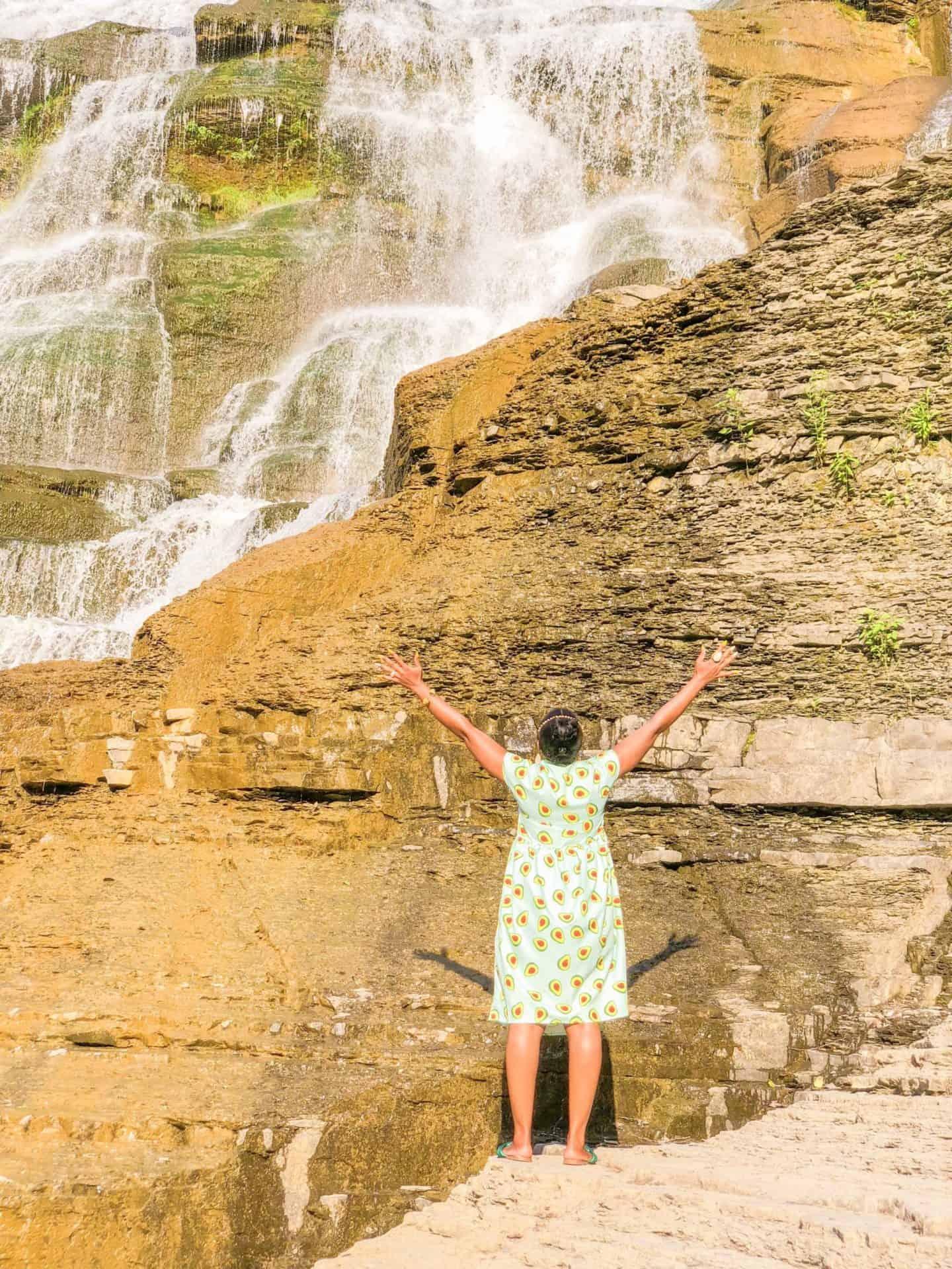 Shaunda Necole- Hidden Waterfalls in Ithaca NY