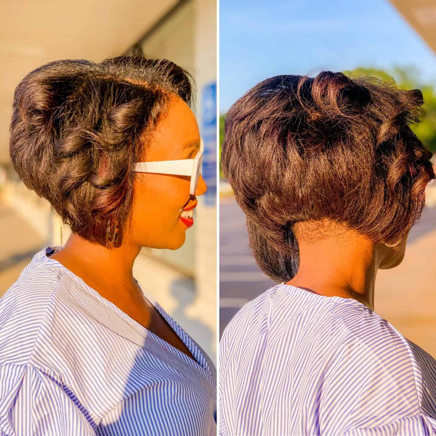 Shaunda Necole Summer Solstice Shorter Haircut For The Longest Day of The Year- Hair We Are VA Beach hair by Destiny