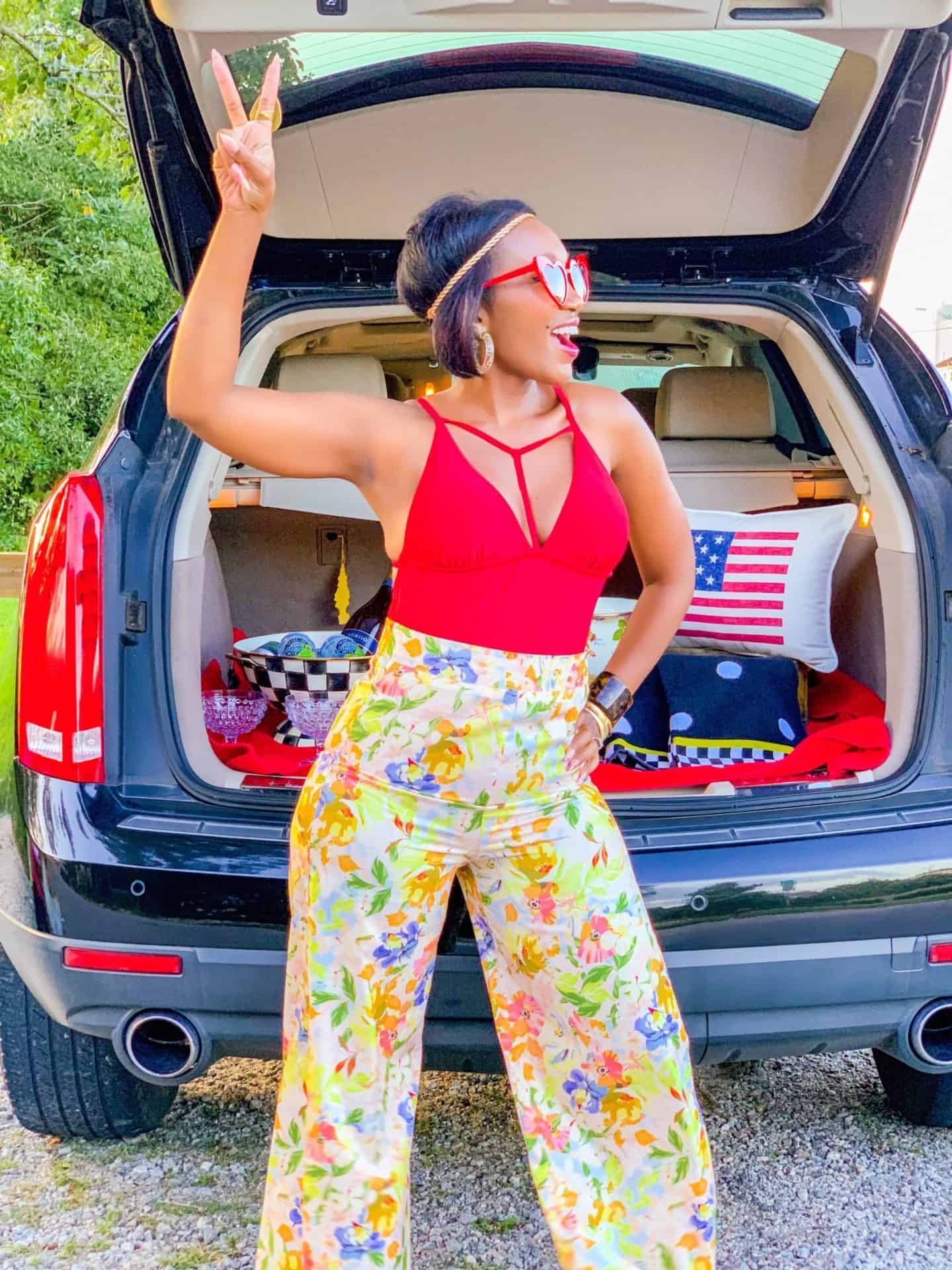 Shaunda Necole Work Hard & Play Harder On Holiday Weekends With Cadillac By The Shore + 5 Different Beaches, Vibrant Patterns, 70's Groove- MacKenzie-Childs Flower Market- Flower Child