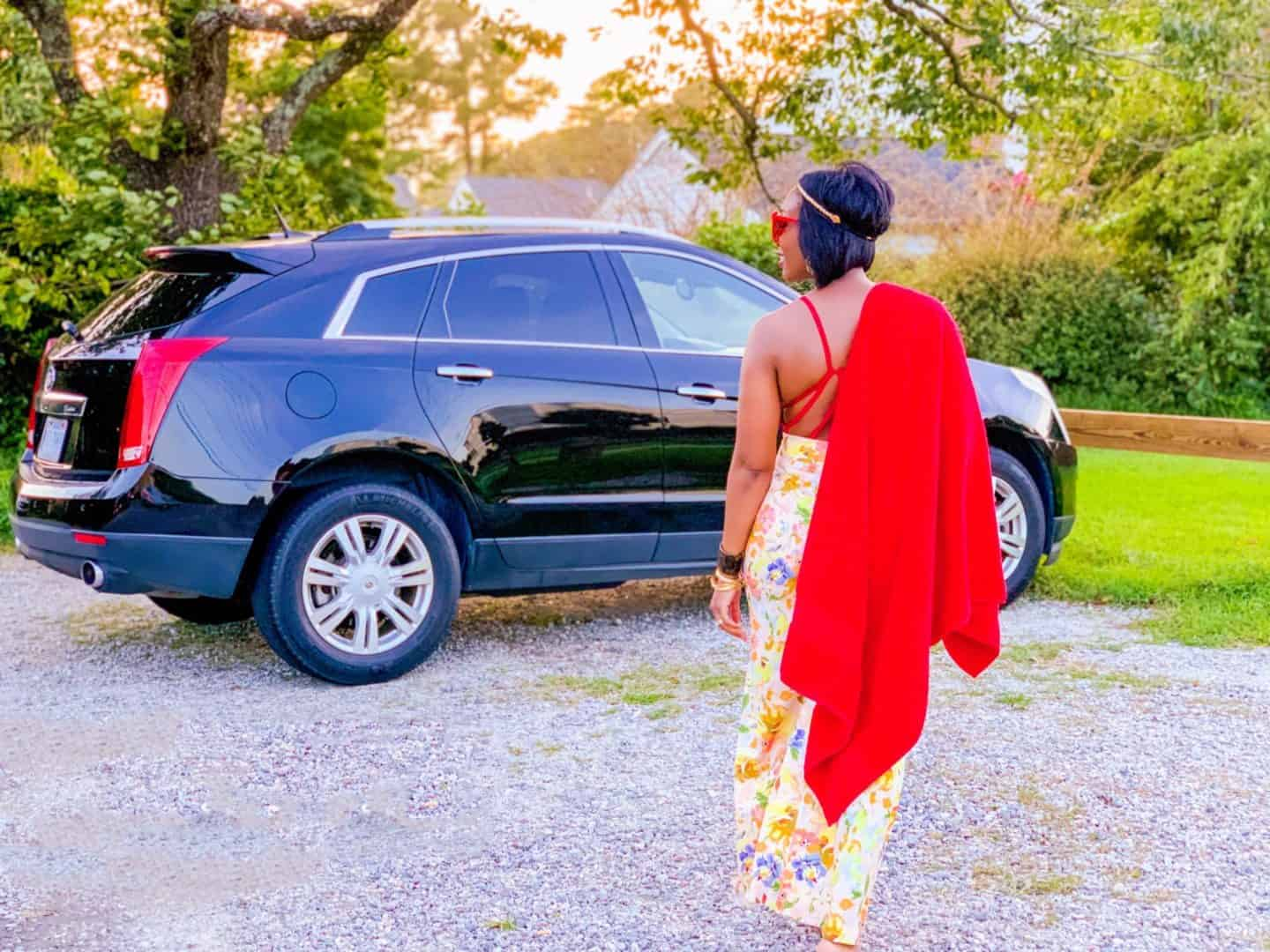 Shaunda Necole Work Hard & Play Harder On Holiday Weekends With Cadillac By The Shore In My Flower Power Party Pants