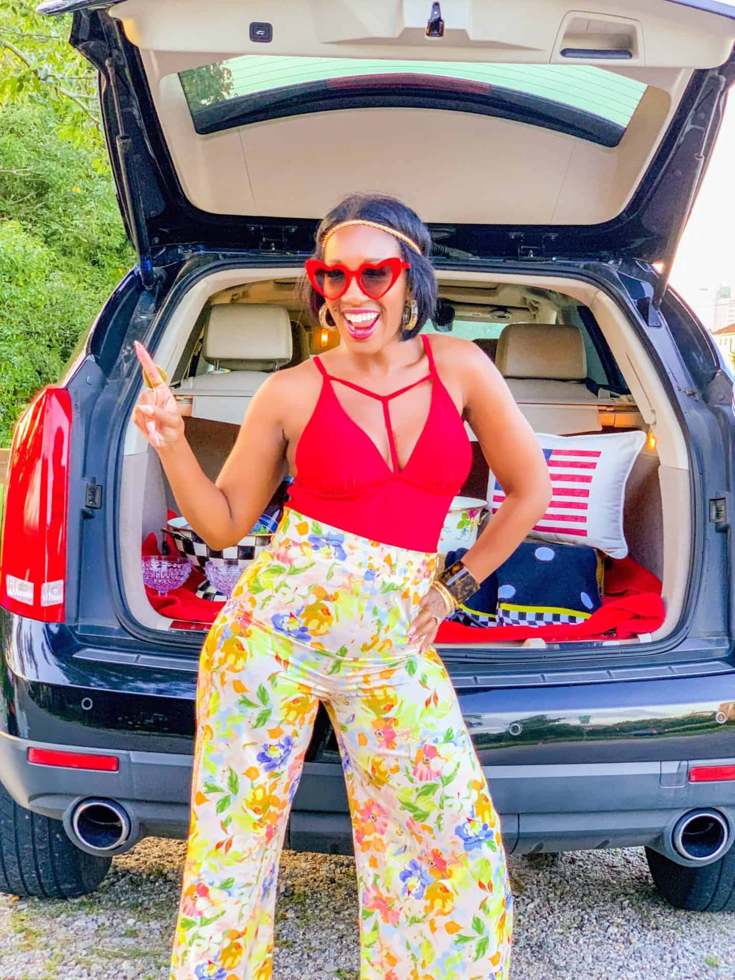 Shaunda Necole Work Hard & Play Harder- Labor Day Weekend 70's Groove! Flower Child Party Pants!