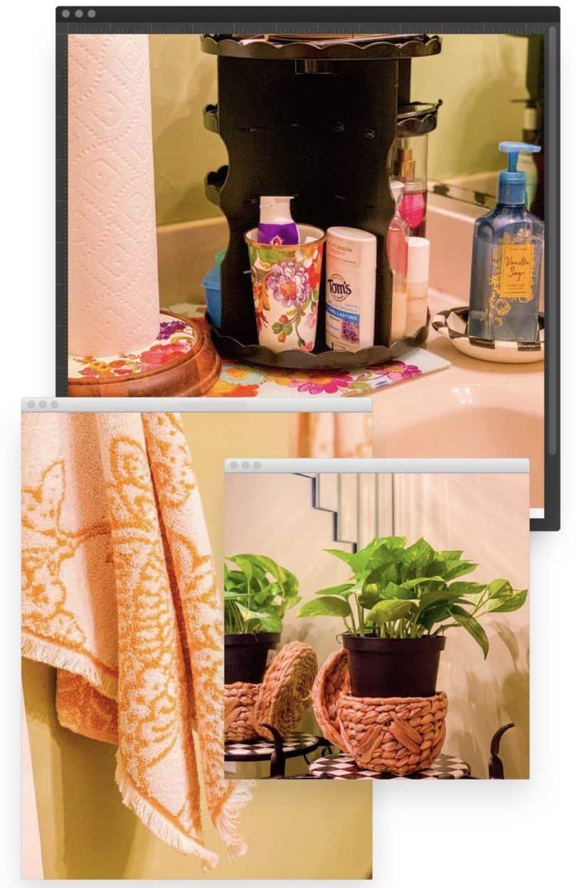 Shaunda Necole bathroom beauty carousel
