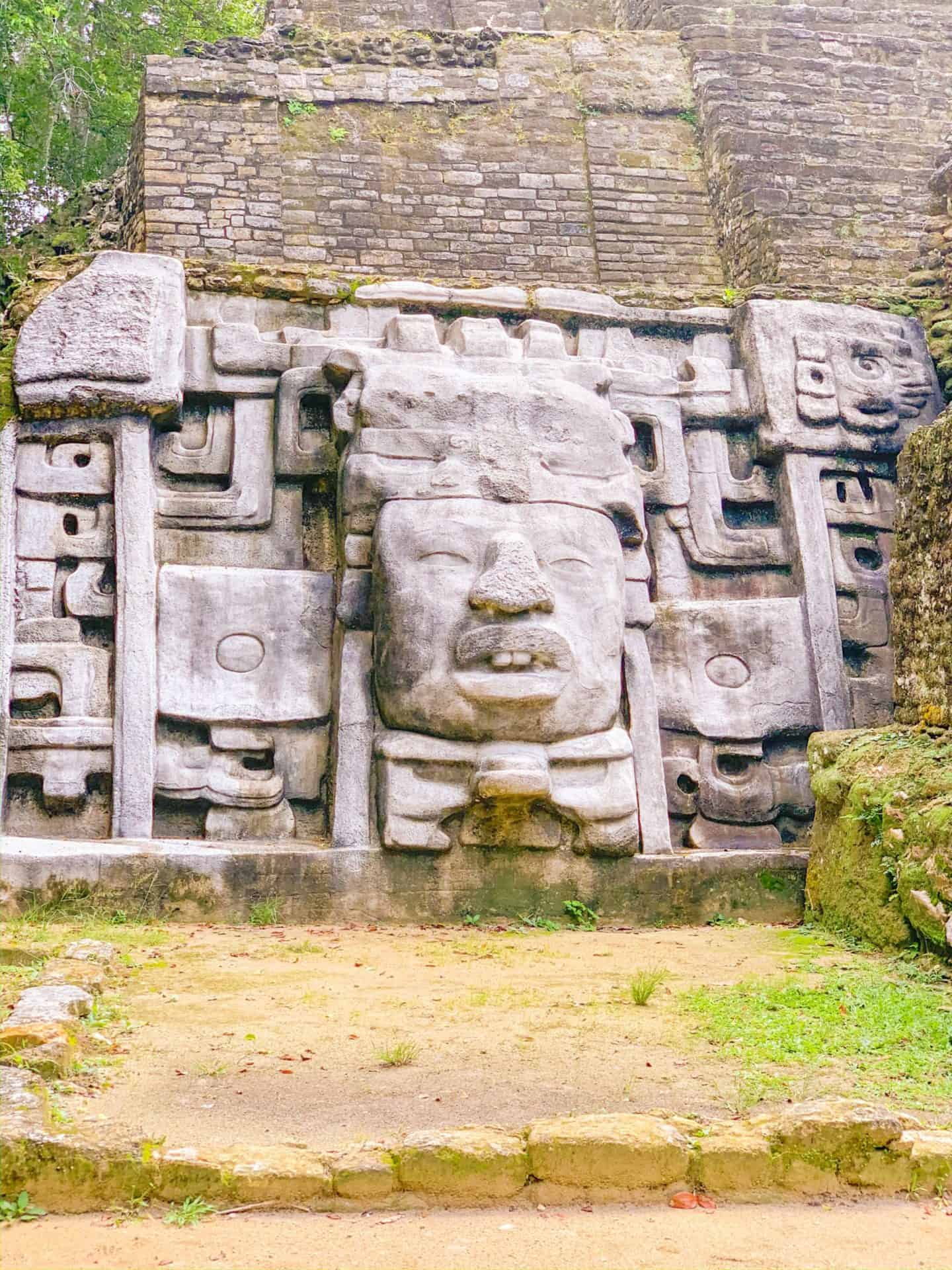 Mayan Temple face - Lamanai, Belize | Shaunda Necole