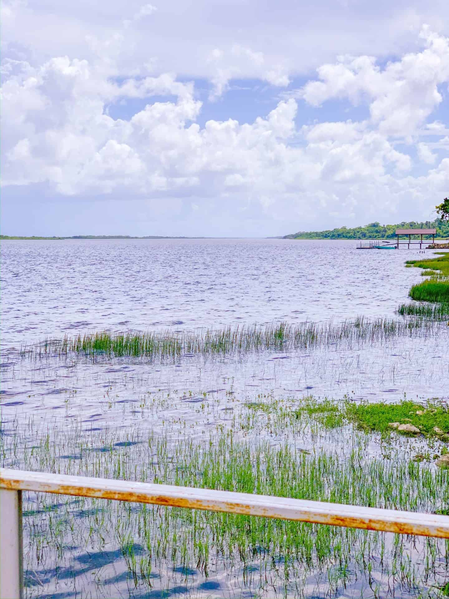 Lamanai, Belize peninsula pier | Shaunda Necole