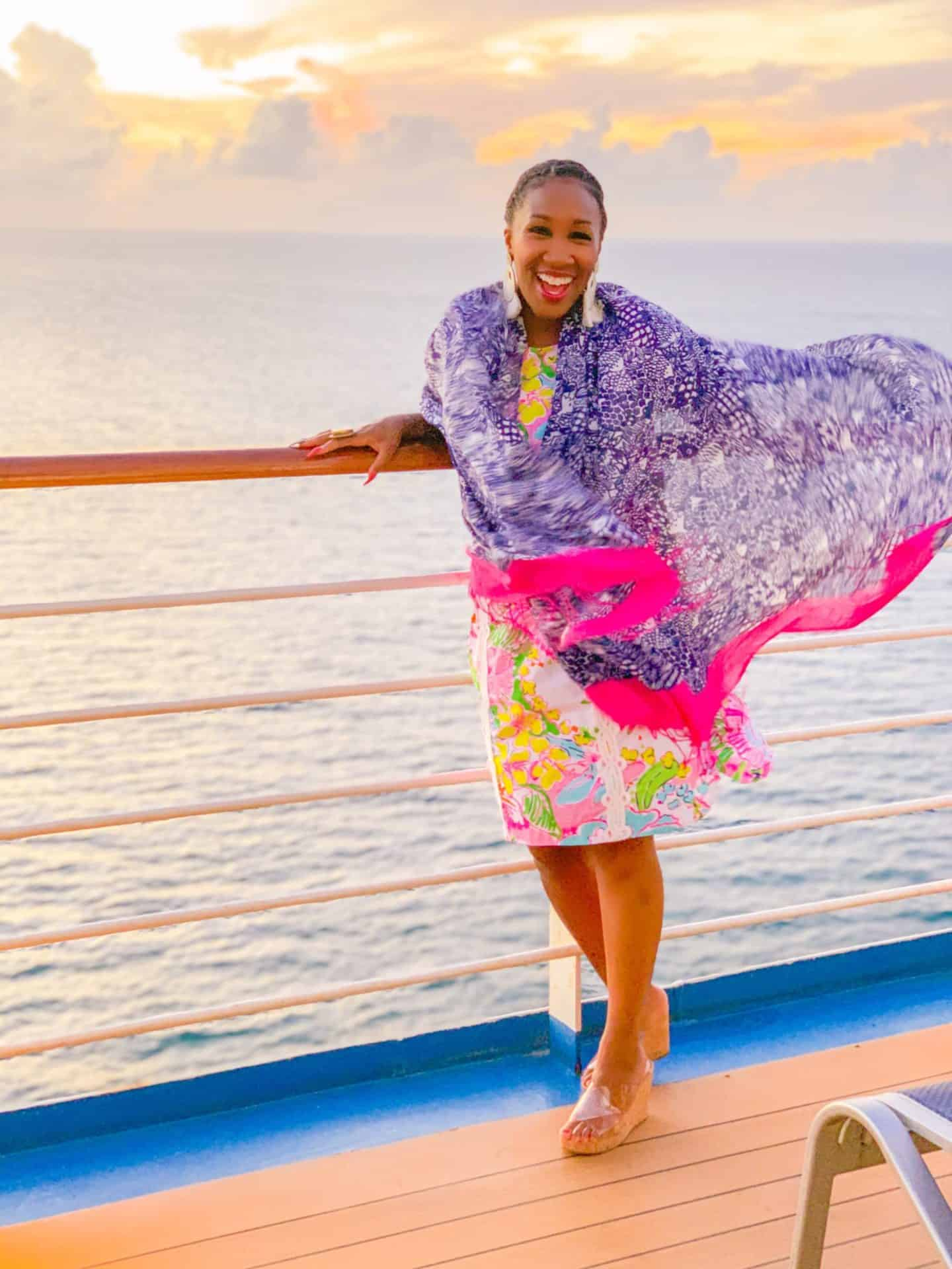 Carnival Vista sunset balcony pictures | Shaunda Necole