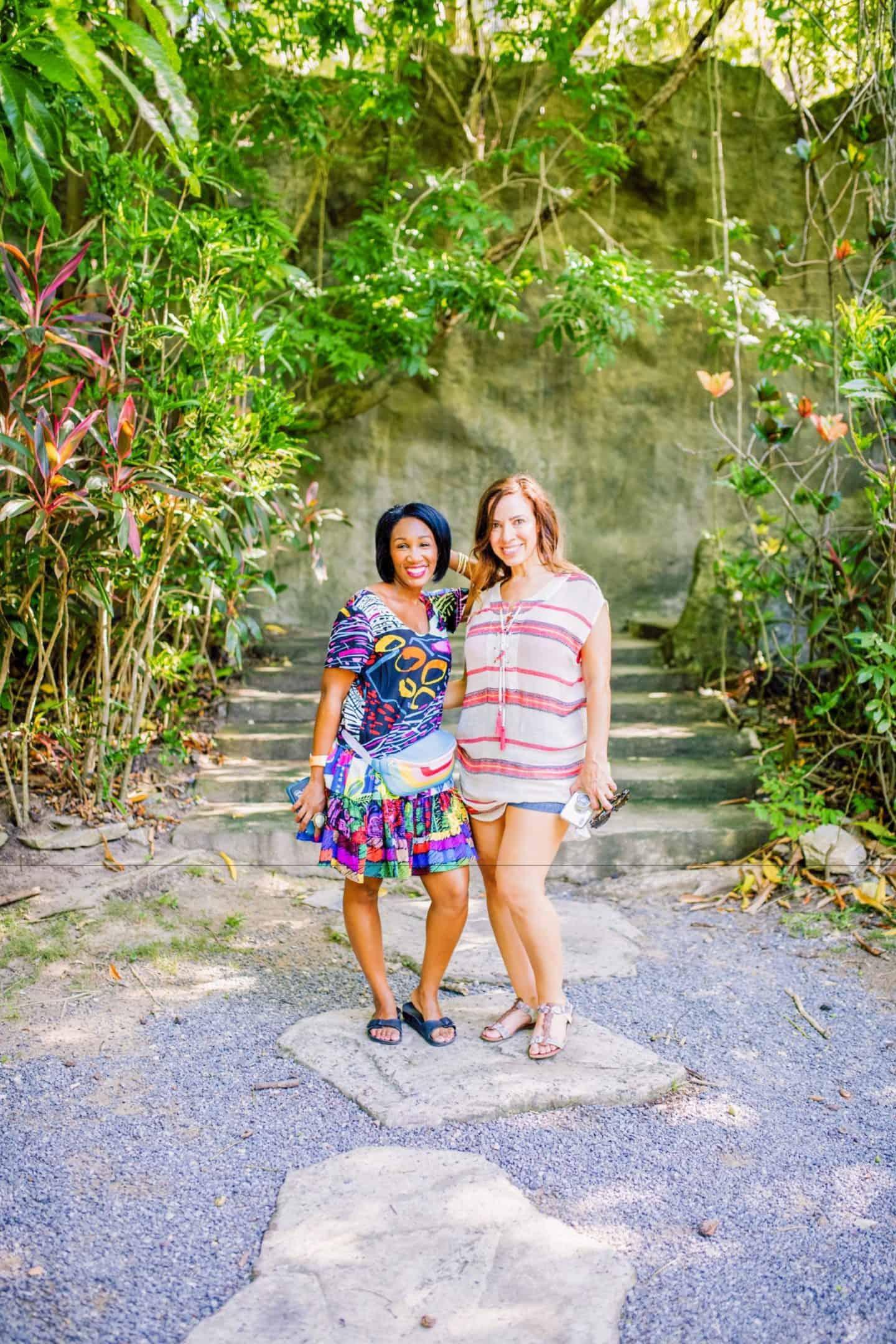 Shaunda Necole with Yvette of May Bueno Cooking in Honduras