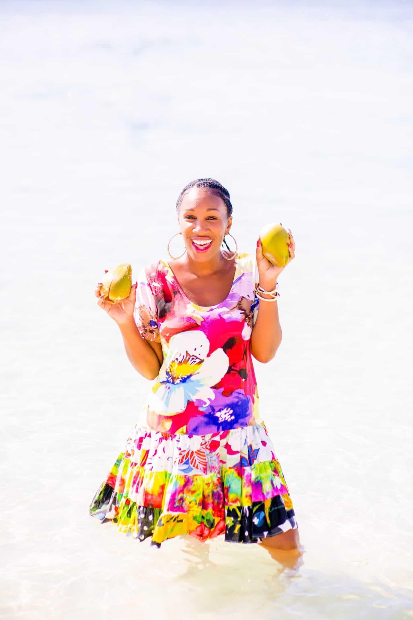 Shaunda Necole- Coconut crazy about Honduras, Isla Roatan private beach excursion via Carnival Cruise Vista
