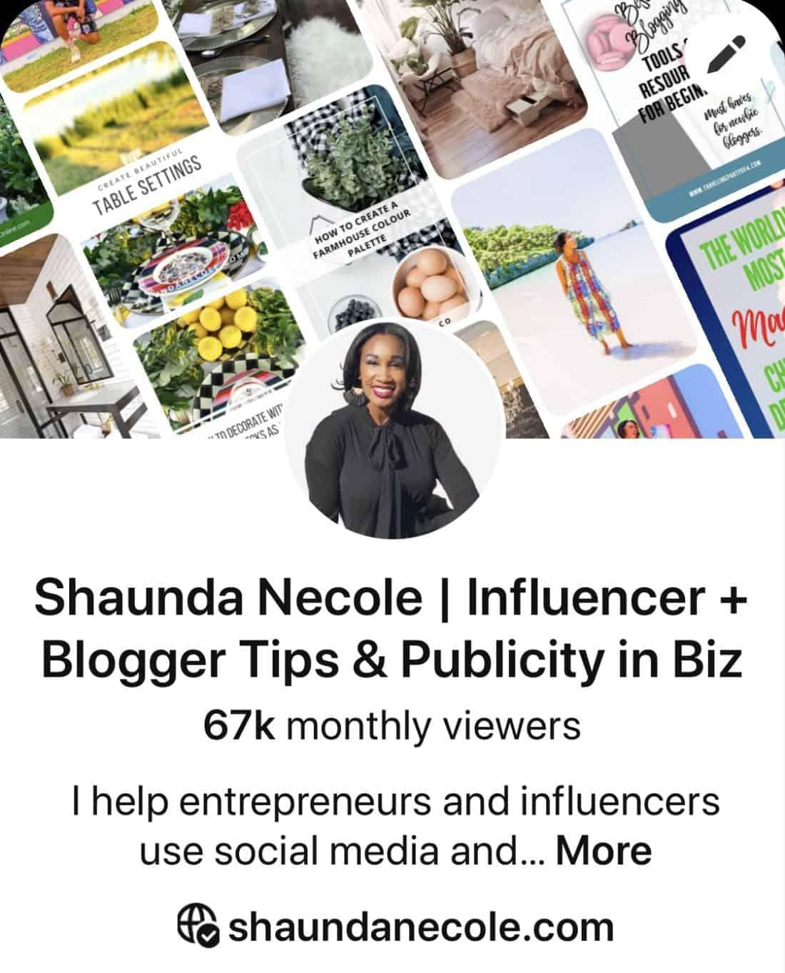 Pinterest Shaunda Necole Blog- How to Grow Your Blog Traffic With Pinterest