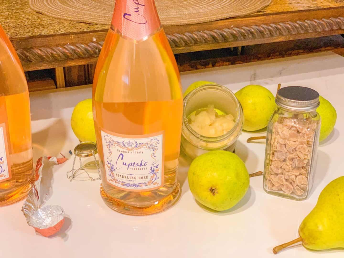 Make This: Easy Holiday Sparkling Rosé Cocktail - Ginger & A Pear Tree