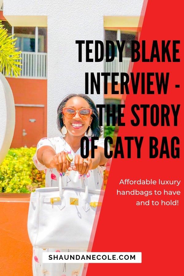 Teddy Blake Teddy Blake- The Story Of Caty Bag | Shaunda Necole