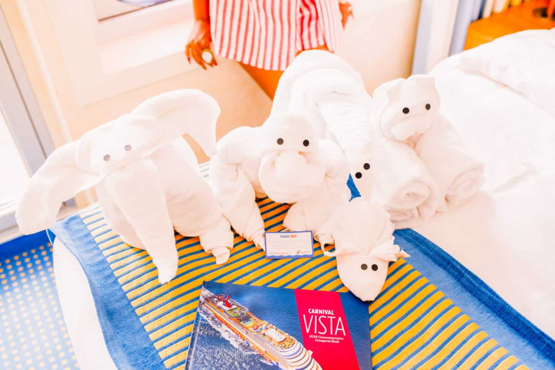 Carnival cruise ship Vista towel buddies