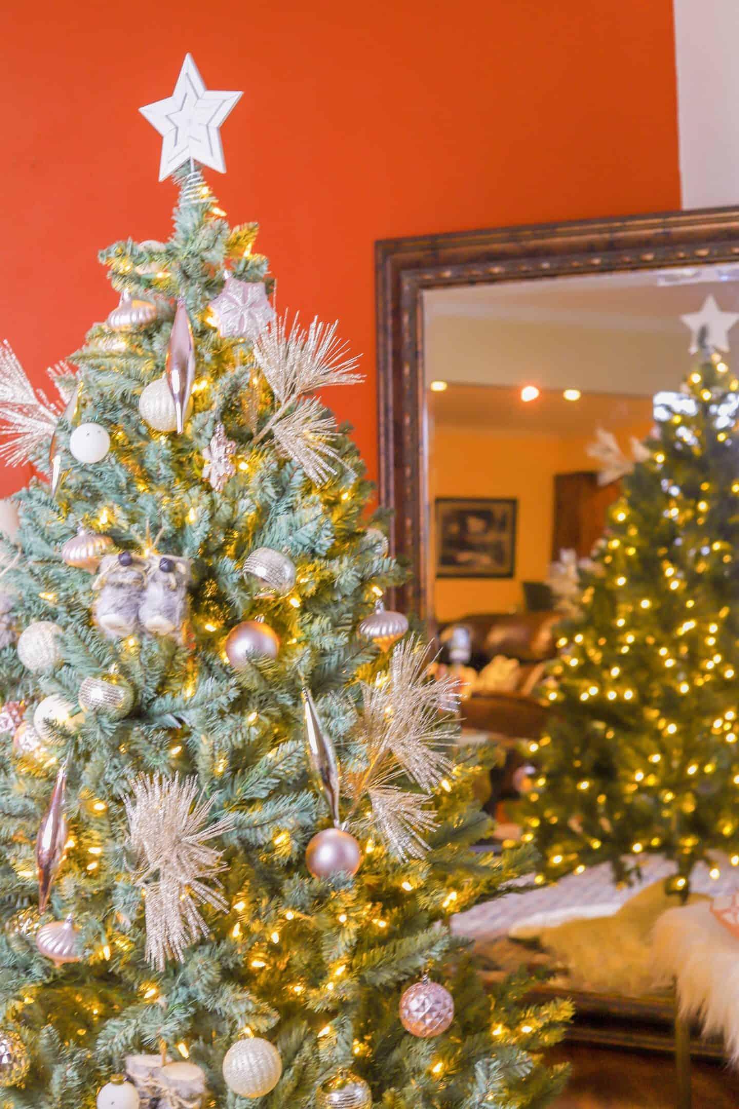 Pre-Lit 6' Tribeca Spruce Blue Artificial Christmas Tree | Shaunda Necole