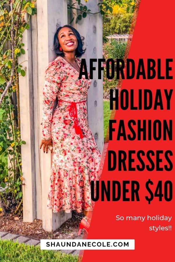Affordable Holiday Fashion Dresses Under $40 | Shaunda Necole