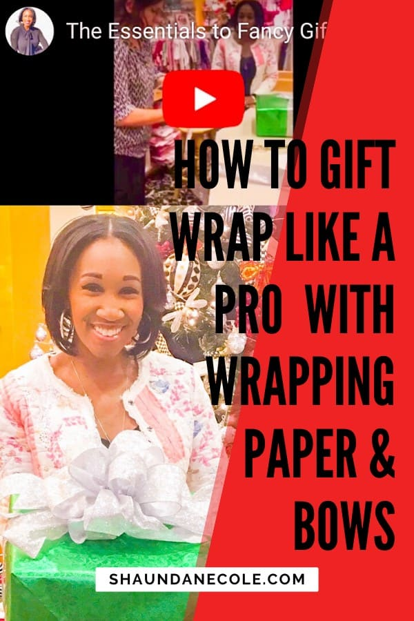 How To Gif Wrap Like A Pro With Wrapping Paper & Bows   Shaunda Necole