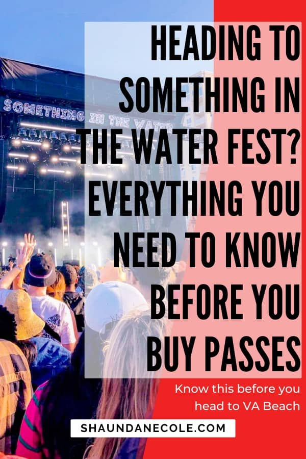 Going To Something In The Water Fest? Everything You Need To Know