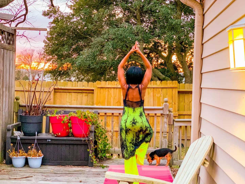 Backyard Yoga & Biz Goals 2020