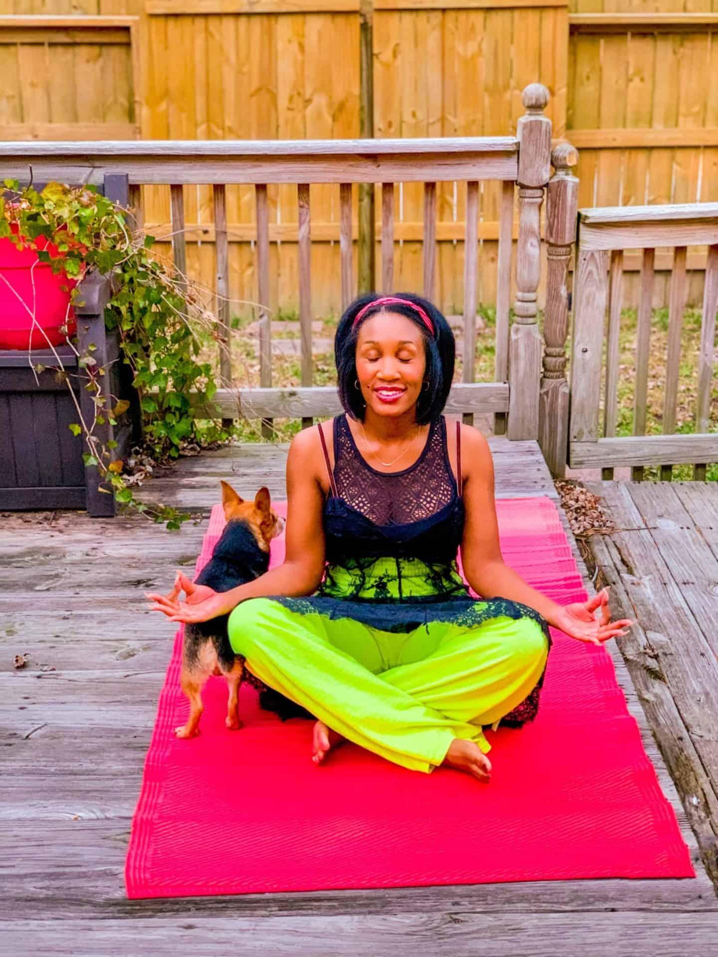 Backyard Yoga Meditation