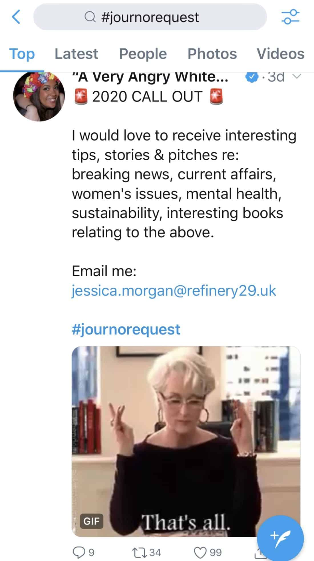 Use Twitter to find #JournoRequest Media Features