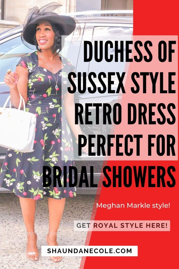 Duchess Of Sussex Retro Dress Perfect For Bridal Showers