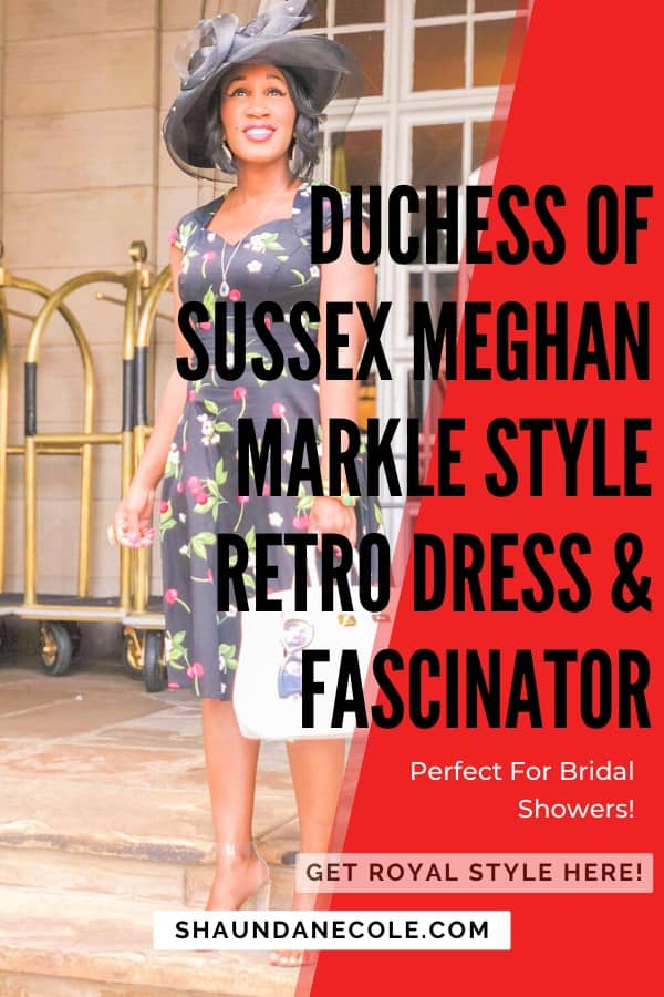 Duchess Of Sussex Meghan Markle Retro Dress & Fascinator