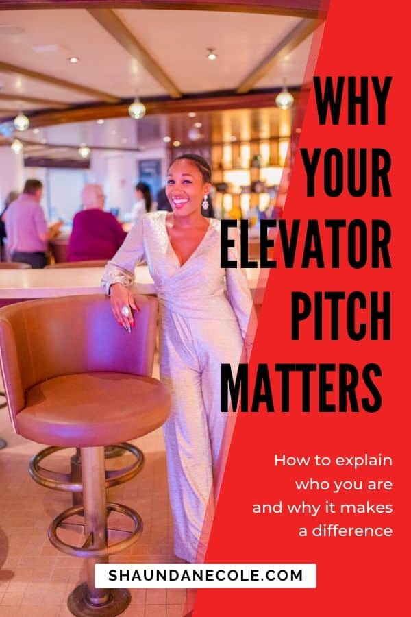 Why Your Elevator Pitch Matters