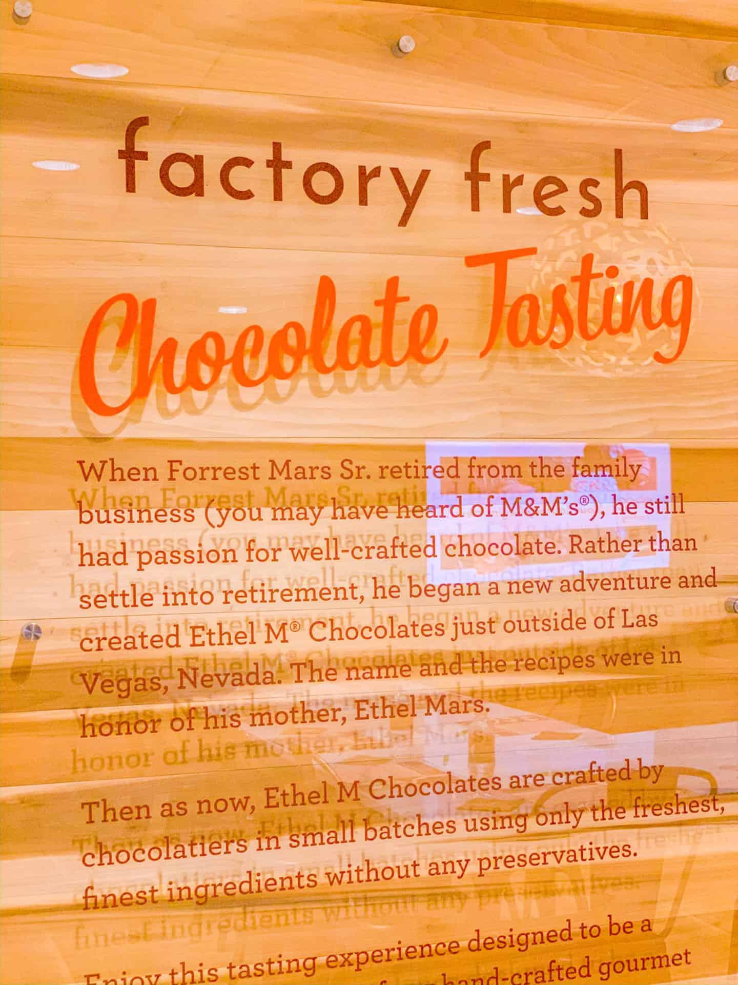 Las Vegas Factory Fresh Chocolate Tasting Experience