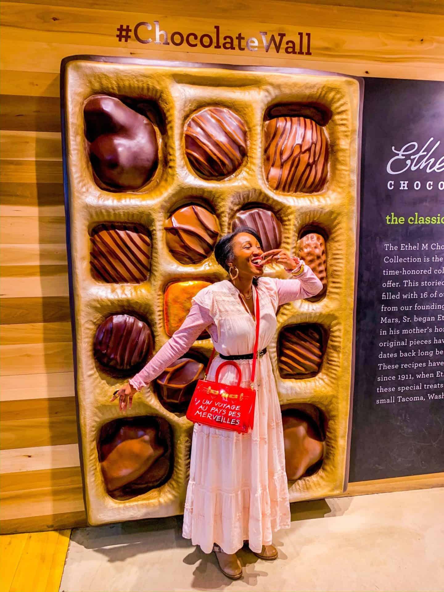 Ethel M Chocolate Factory Selfie Wall