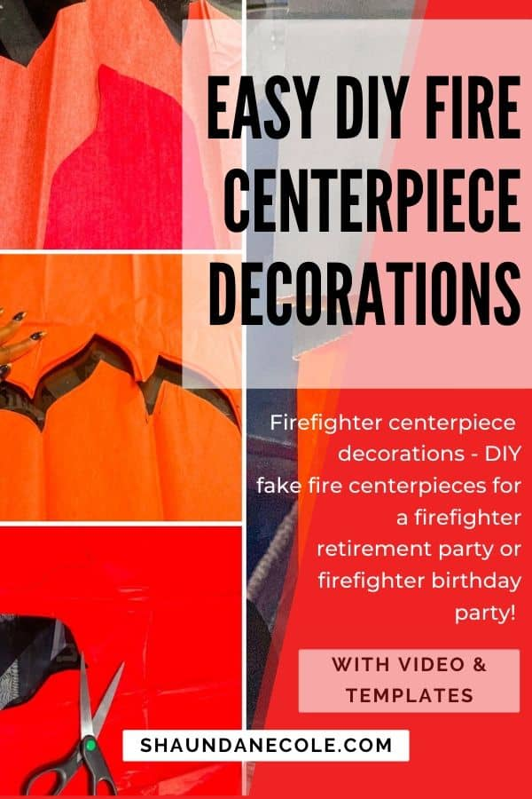 Easy DIY Fire Centerpiece Decorations - Firefighter Party Ideas