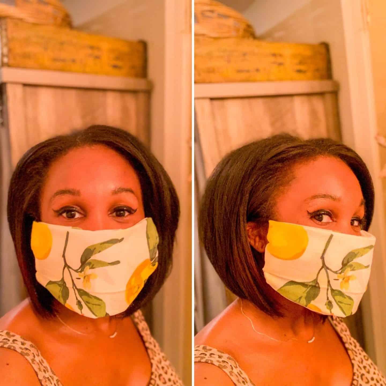DIY Fabric Napkin Face Mask