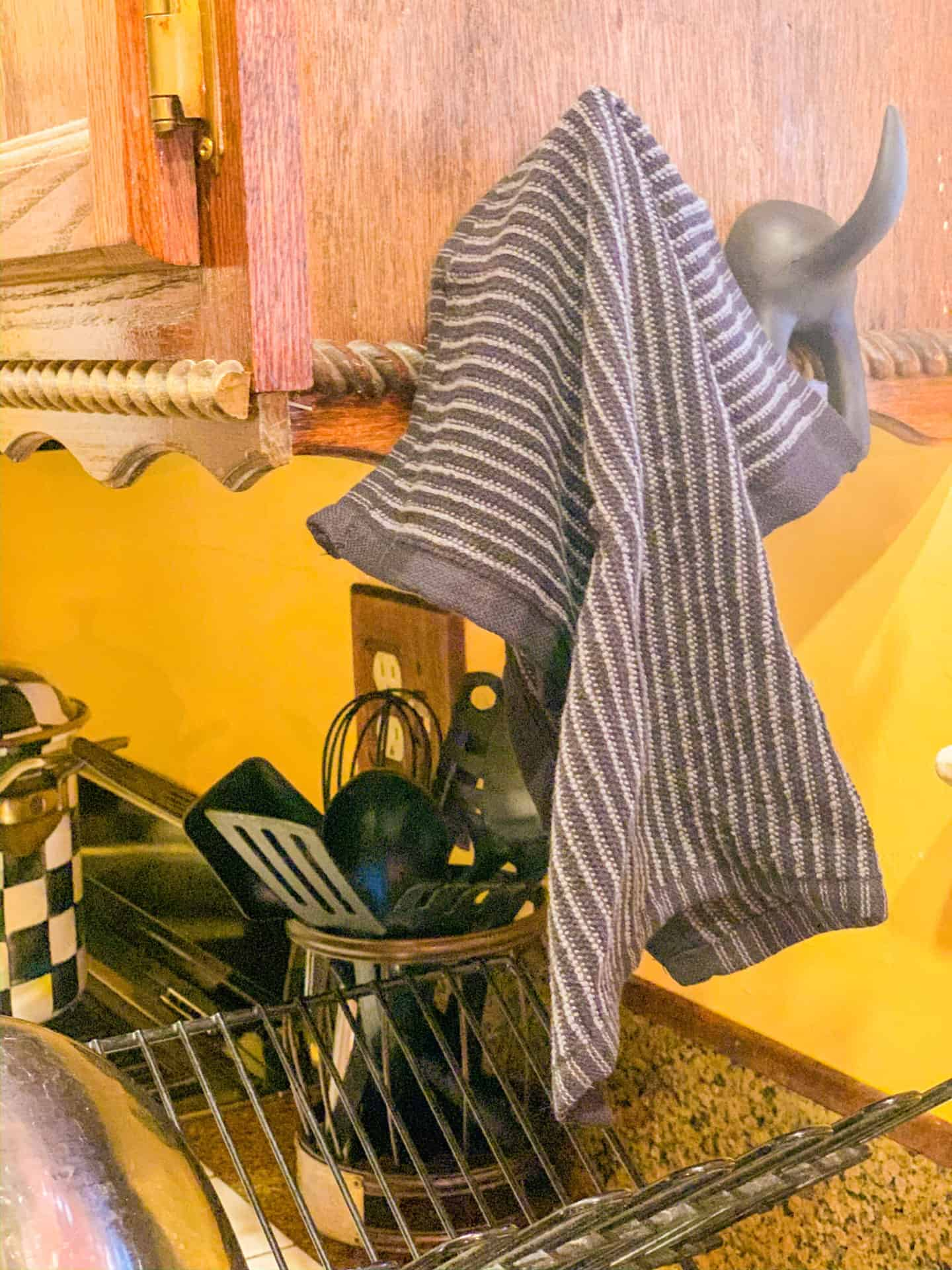 Dish Towel Holder Ideas