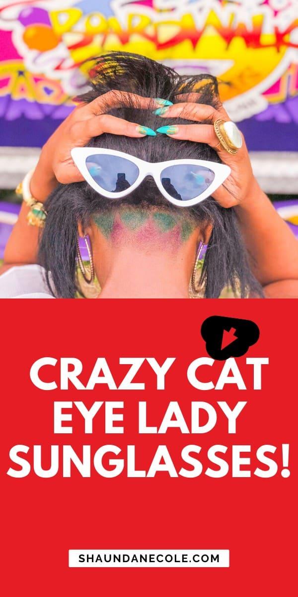 Crazy Cat Eye Lady Sunglasses
